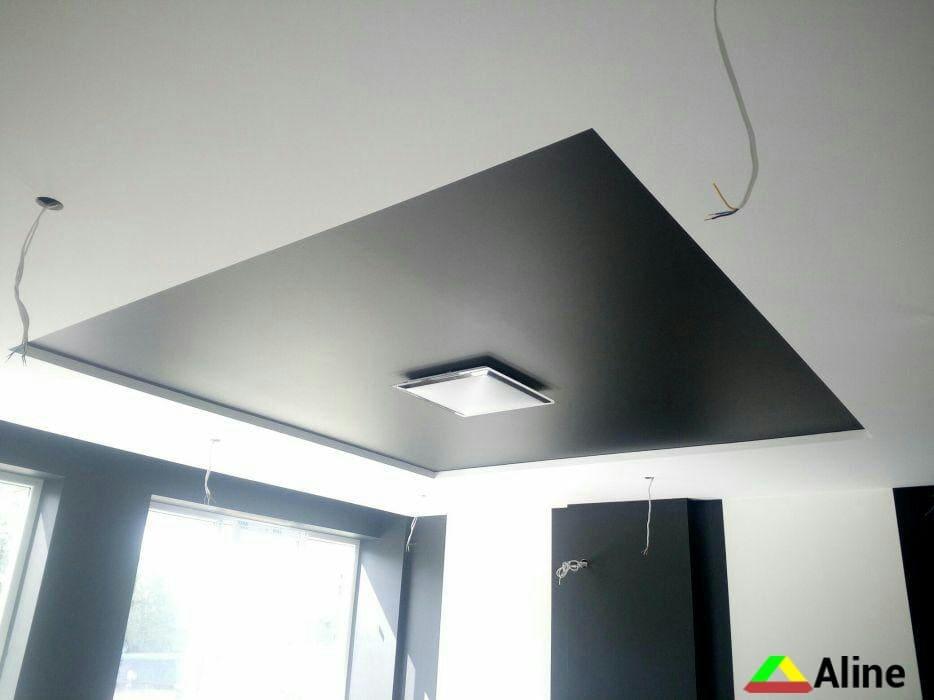 Черные сатиновые натяжные потолки