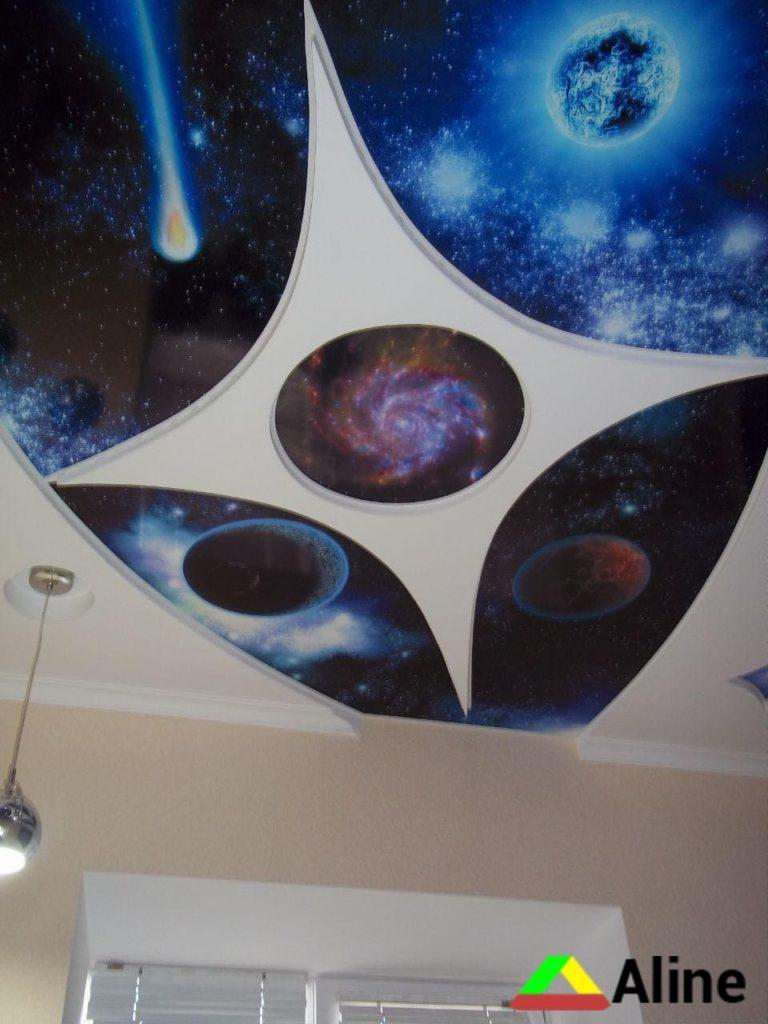 Натяжные потолки космос для мальчика