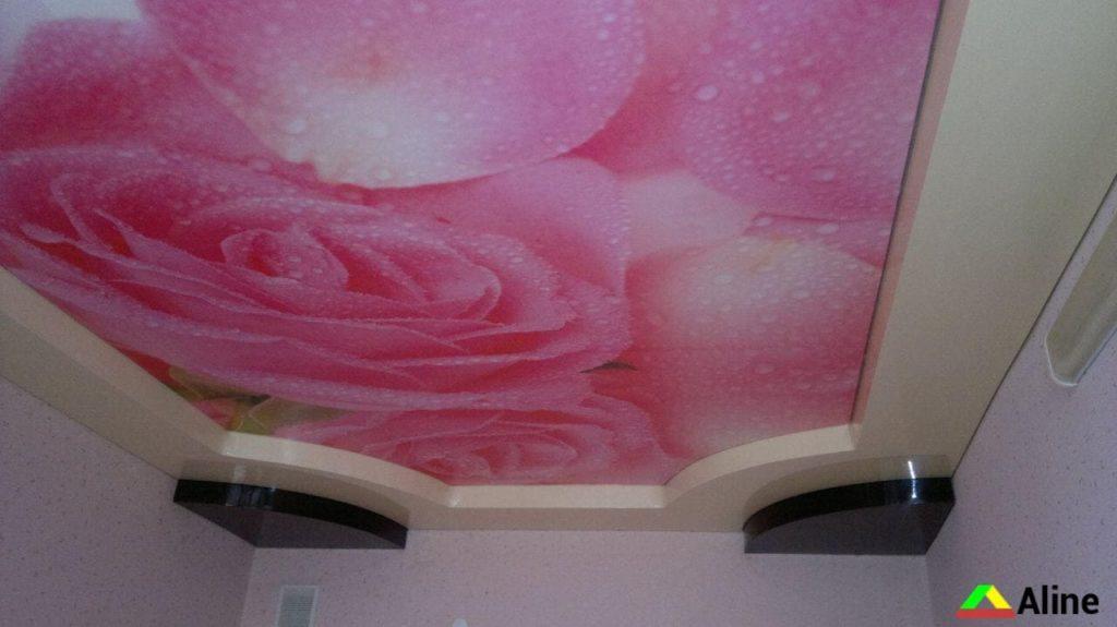 Роза фотопечать натяжные потолки фотопечать