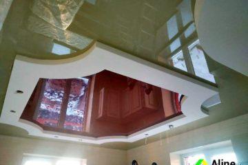 Красный натяжной потолок в Новомосковске