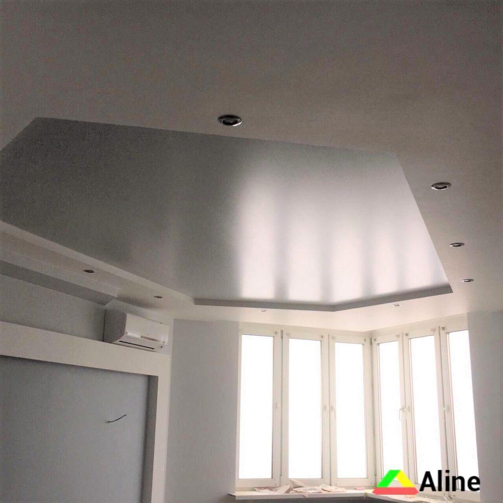 Серые натяжные потолки Украина