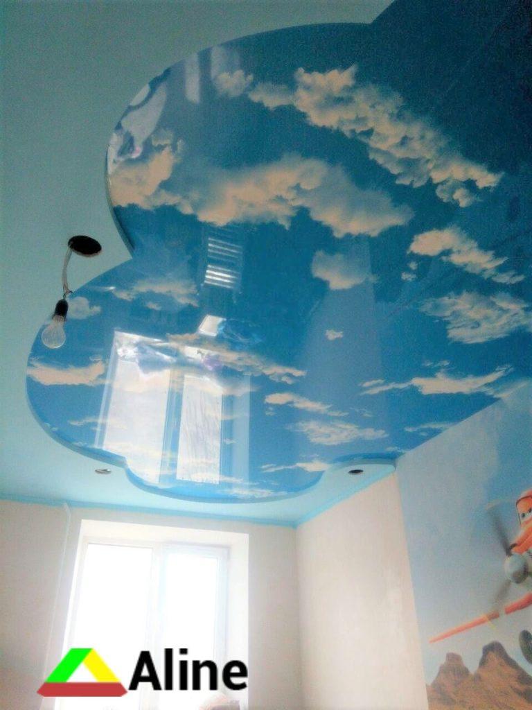 Голубое небо фотопечать натяжные потолки