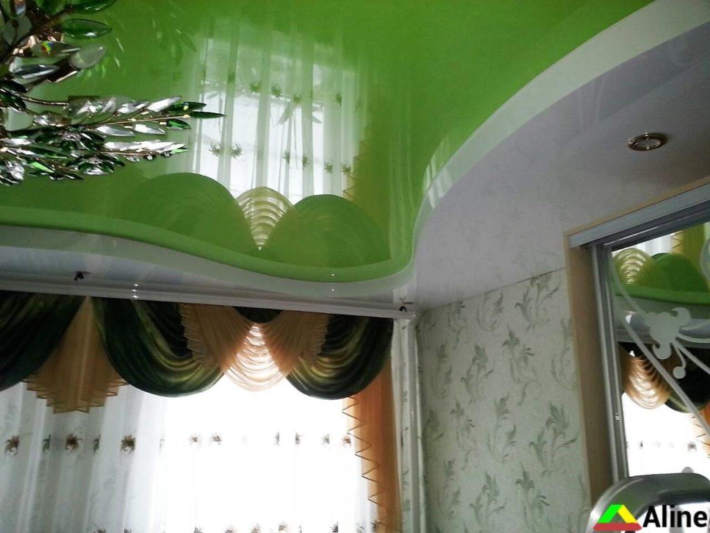 зеленый натяжной потолки Терновка Украина