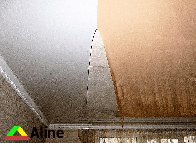 разошелся шев на натяжном потолке