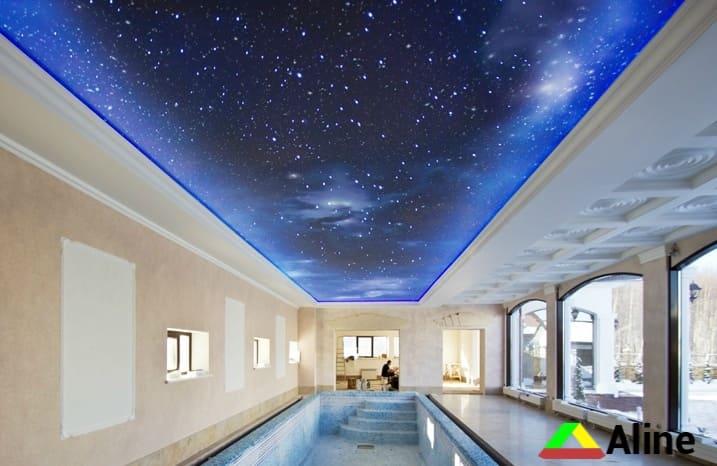 звездное небо и фотопечать натяжные потолки