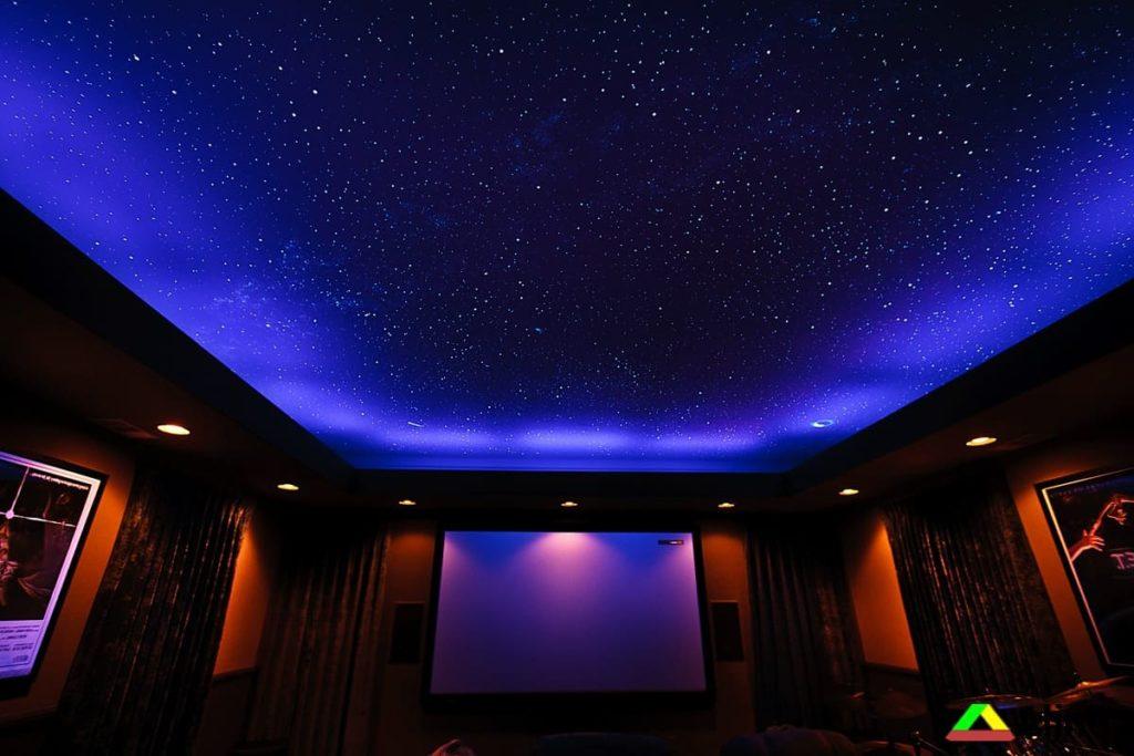 натяжные потолки в виде звездного неба