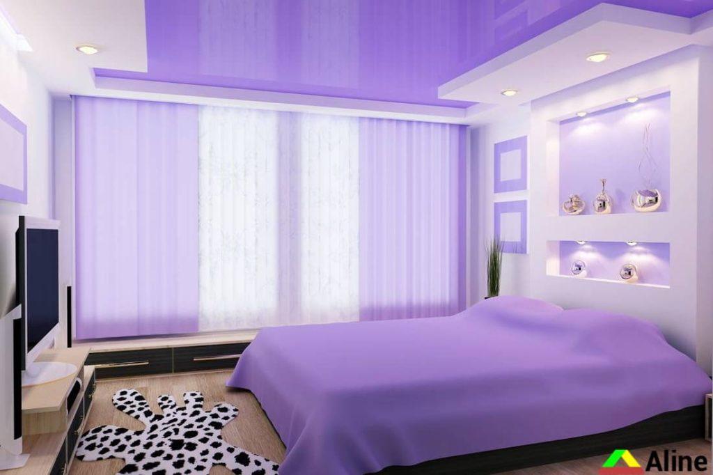 фиолетовые натяжные потолки в петропавловке