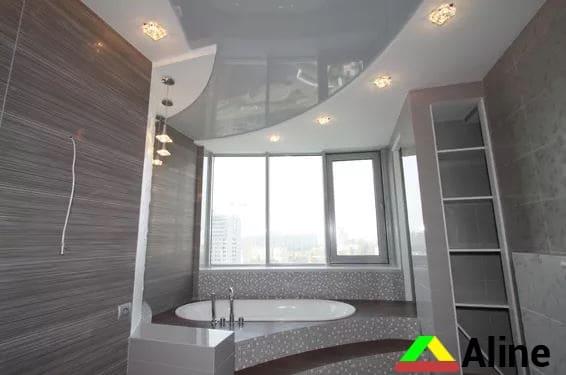 натяжной потолок петропавловка в ванной